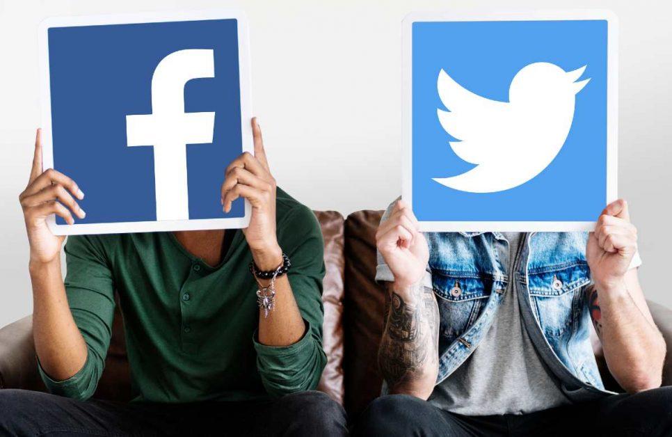 Personas con iconos de redes sociales