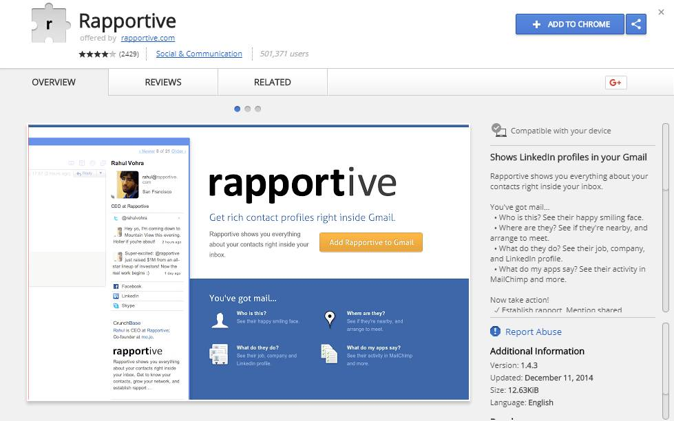 Rapportive